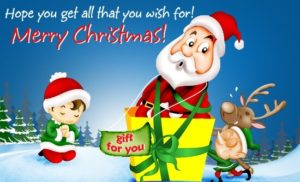 Cute Merry Christmas Images 300x182 Merry Christmas Wishes: Give these WhatsApp Message, Christmas Wishes, Christmas Greetings to Friends