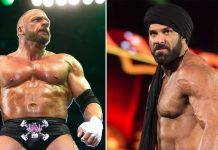 Jinder Mahal Facing Triple H