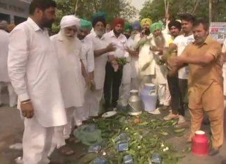 farmers on strike